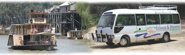 Specialising in bus tours in Echuca, Moama and surrounding areas, winery tours, paddlesteamers, visit the Military and Holden Museums
